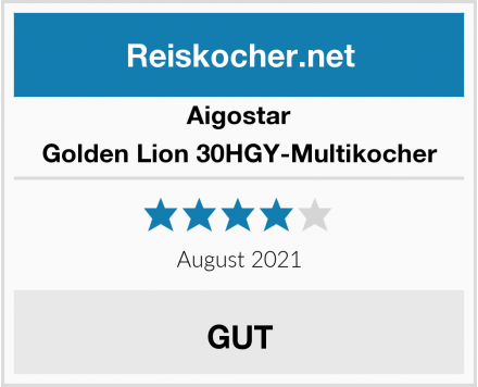 Aigostar Golden Lion 30HGY-Multikocher Test