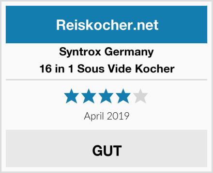 Syntrox Germany 16 in 1 Sous Vide Kocher Test