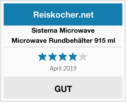 Sistema Microwave Microwave Rundbehälter 915 ml Test