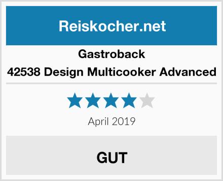 Gastroback 42538 Design Multicooker Advanced Test