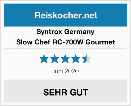 Syntrox Germany Slow Chef RC-700W Gourmet Test