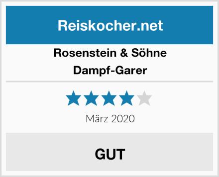 Rosenstein & Söhne Dampf-Garer Test