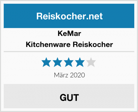 KeMar Kitchenware Reiskocher Test