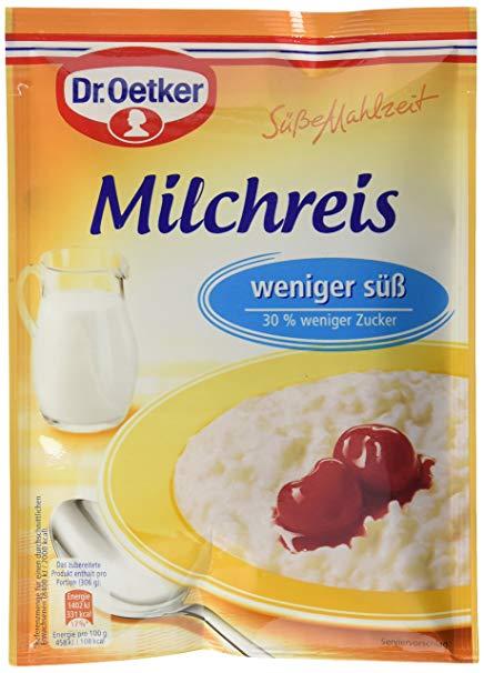 Dr. Oetker Milchreis Weniger Süß