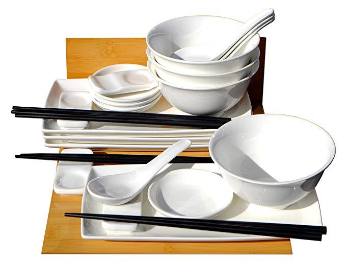 Gifts Of The Orient GOTO Sushi-Set mit Schüsseln (4 Personen)