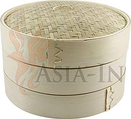 Jade Temple Bambusdämpfer 3-Teilig 25 cm Bamboo Steamer Set