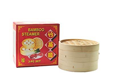 No Name Bambusdämpfer 25cm 3-teilig