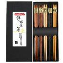 Gerhannery japanische Essstäbchen 5er Paar Set