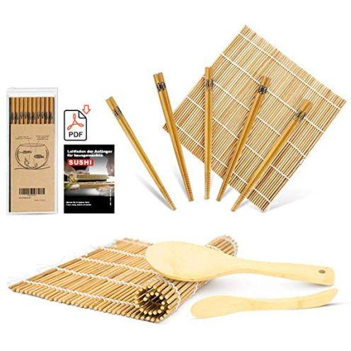 MUDEELA Bambus Sushi Matte Set