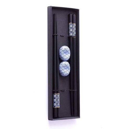 Sushi Geschenke-Set Essstäbchen Premium Holz Set