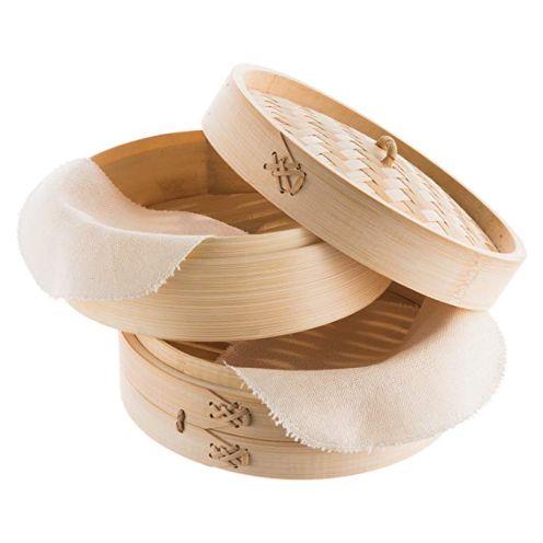 Reishunger Bambusdämpfer (Ø 20 cm, 2 Etagen)