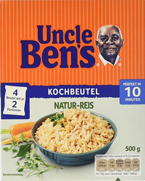 Uncle Ben's Naturreis im 10-Minuten Kochbeutel 4er Pack